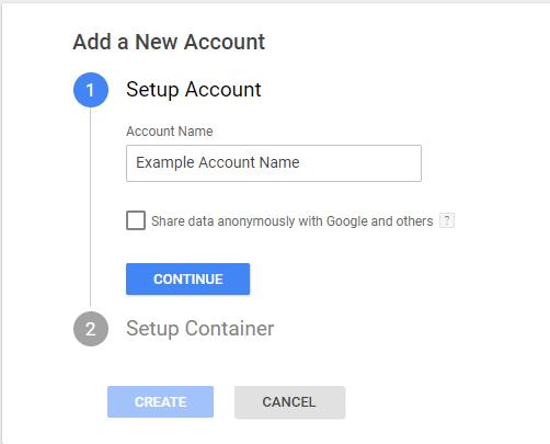 วิธีการสร้าง Account  ของ Google Tag Manager