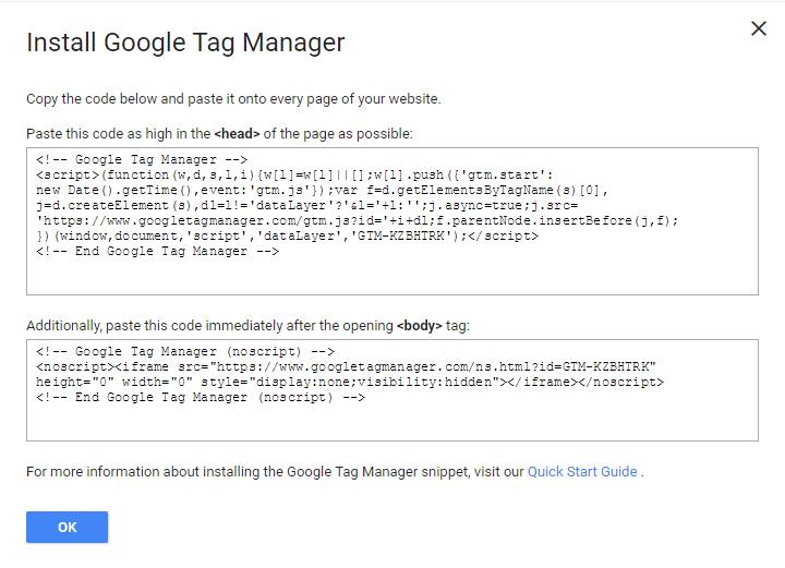 Script ติดตั้ง Google Tag Manager
